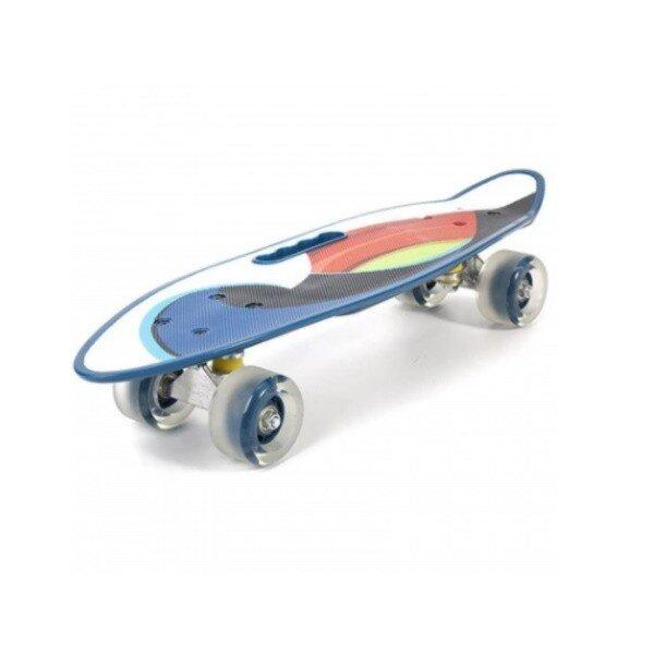 Penny board model BlueSea cu maner roti luminoase 60 cm 1