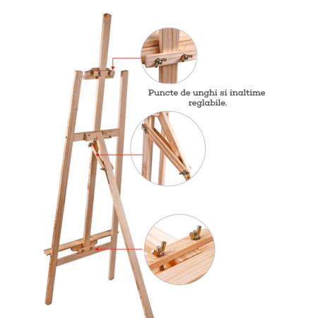 Sevalet din lemn premium Foska reglabil 150 cm reglabil