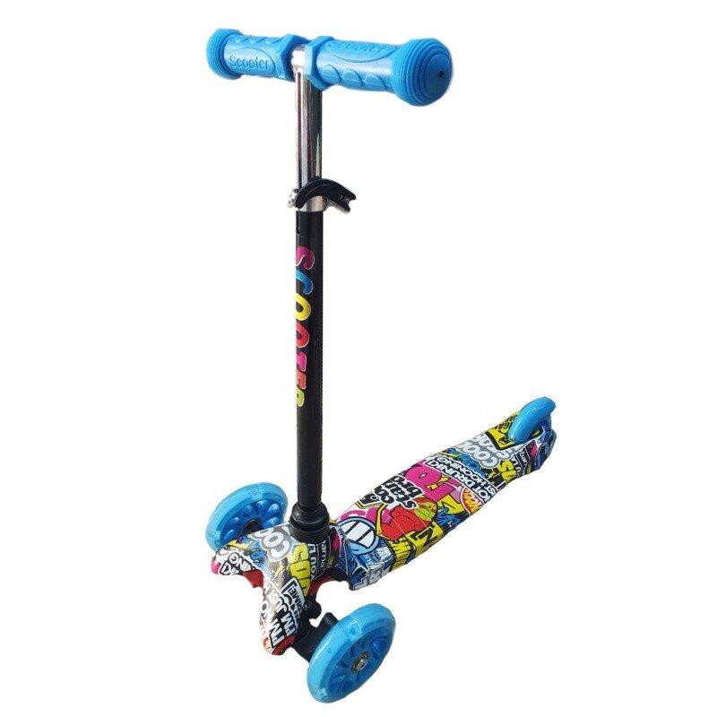 Trotineta copii Scooter graffiti albastru