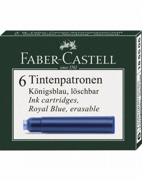 Cartuse cerneala mici albastru 6 buc cutie Faber Castell