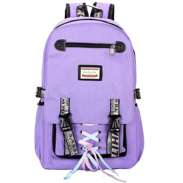 Ghiozdan rucsac Smart multifunctional mov usb antifurt trending purple OX18 2023