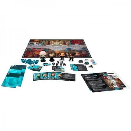 Joc de societate Funkoverse Harry Potter cu 4 figurine Lord Voldemort Bellatrix Lestrange Hermione Granger si Harry Potter 2