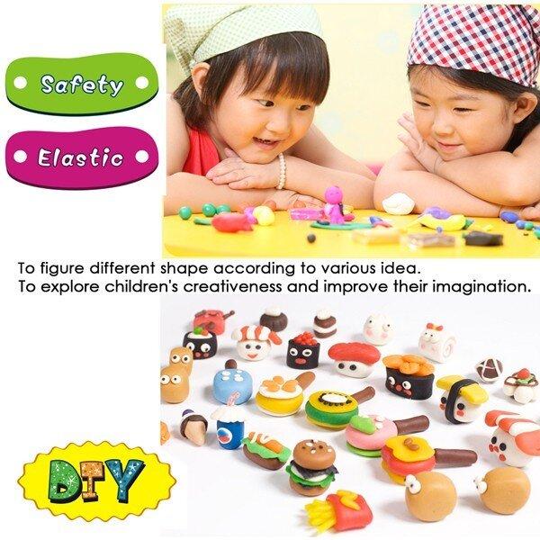 Plastilina usoara Foska Play Dough 6 culori 2