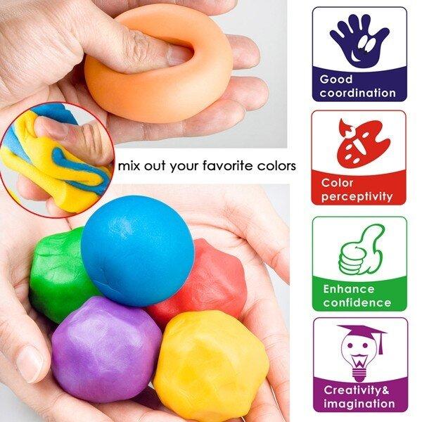 Plastilina usoara Foska Play Dough 6 culori 3