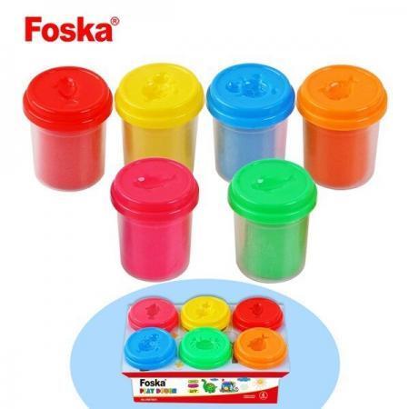 Plastilina usoara Foska Play Dough 6 culori 6