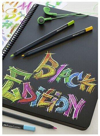 creioane hartie neagra faber castell black edition desen 1