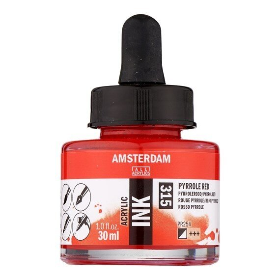 Acrylic ink Pyrrole Red 30m 1