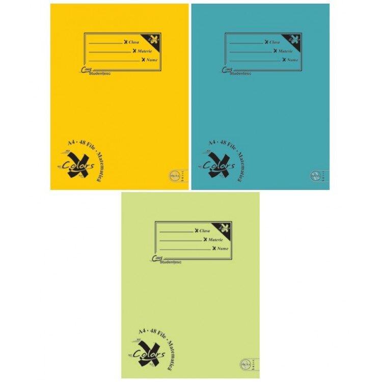 Caiet A4 48 file aritmetica color Pigna