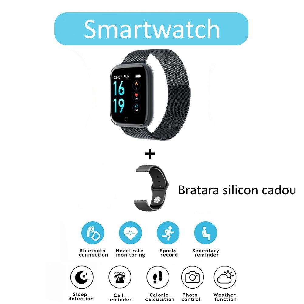 Ceas SmartWatch si bratara fitness 2 in 1 SWatch10 cad