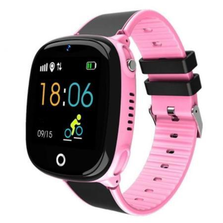 Ceas smartwatch copii SWatch20 roz negru 22
