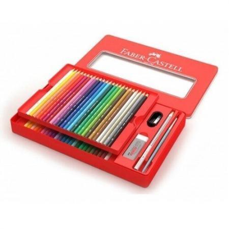 FC115933 Creioane colorate Acuarela 48 culori si 4 accesorii cutie metal Faber Castell01 2