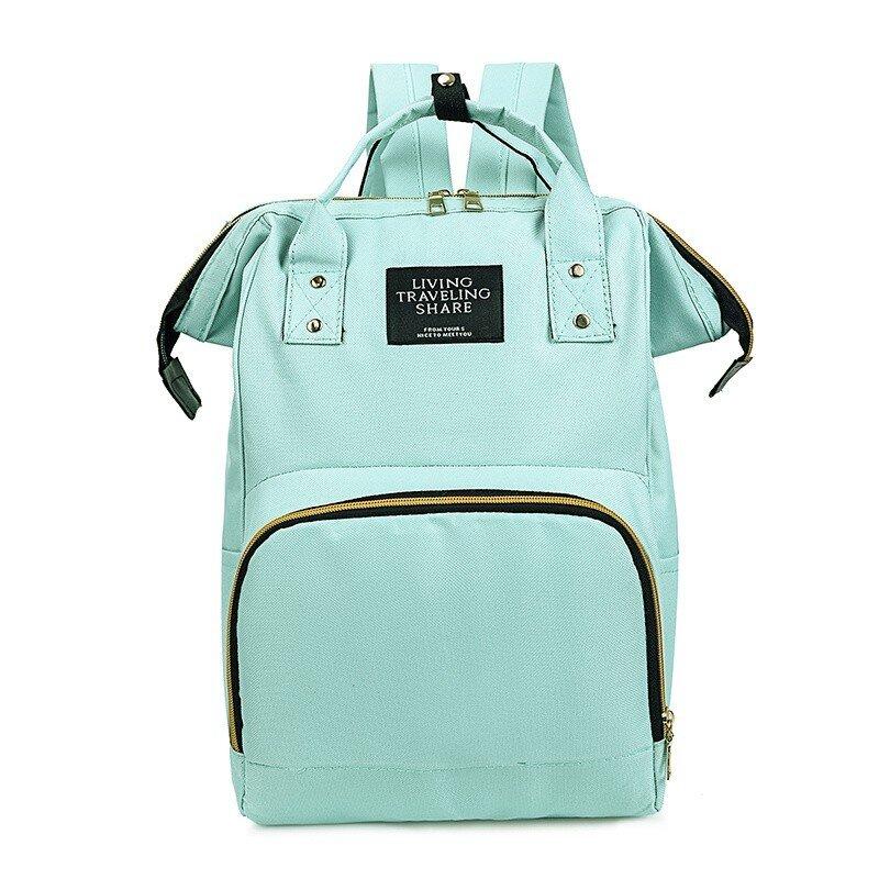 Rucsac geanta multifunctional de umar verde carucior pentru mamici folositor in organizare accesorii bebelusi copii travel 42x18x27 cm