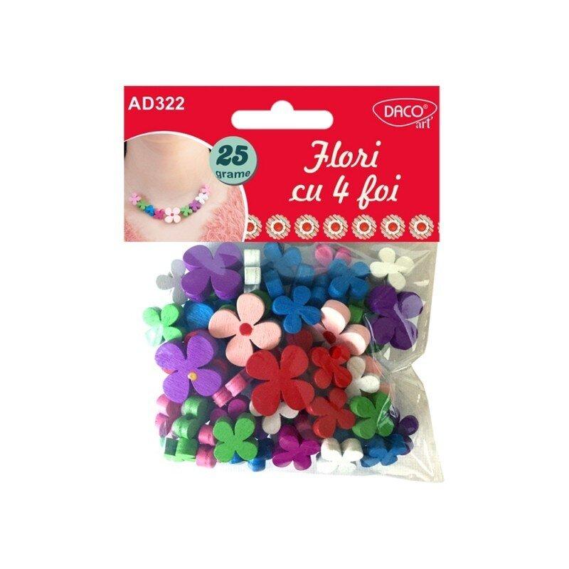 accesorii craft ad322 flori cu 4 foi daco