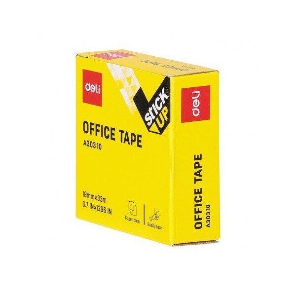 banda adeziva 18 mm x 33 m cutie carton deli