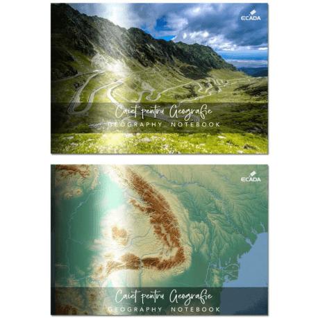 caiet geografie 17x24 cm ecada
