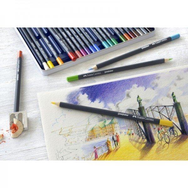 Creioane colorate Faber Castell 36 culori goldfaber cutie metal 2