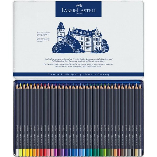 Creioane colorate Faber Castell 36 culori goldfaber cutie metal 3