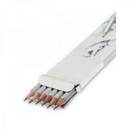 Creioane mina grafit 6 buc HB 2B 4B 6B 7B 8B Marco Raffine