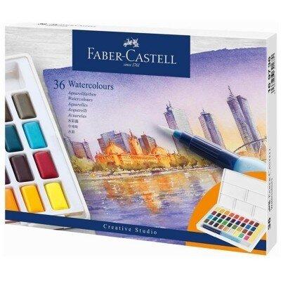 FC169736 Set acuarele si pensula cu rezervor Creative Studio 36 culori set Faber Castell 178639