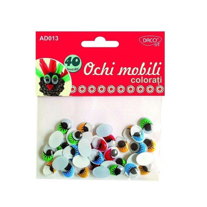 accesorii craft ad013 ochi mobili colorati daco