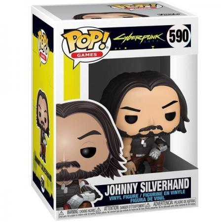 Figurine Pop Cyberpunk 2077 J Silverhand crouch 2