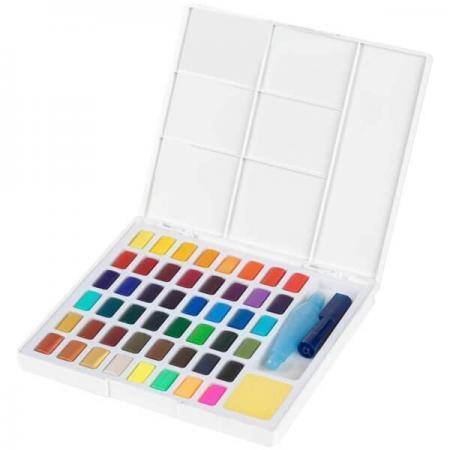 acuarele 48 culori set faber castell paleta 4