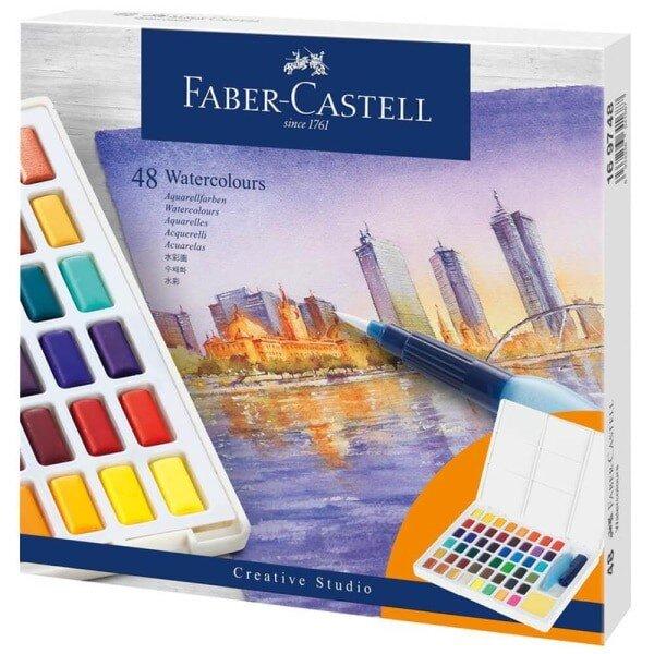 acuarele 48 culori set faber castell