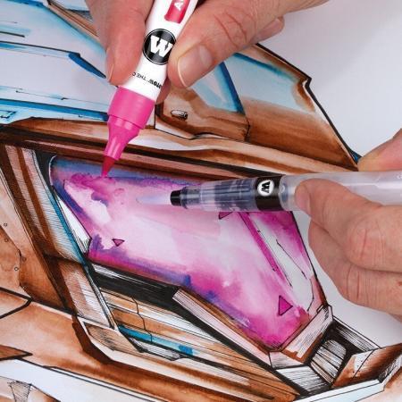 aqua color brush basic set 1 example 5