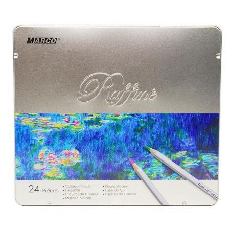 Creioane 24 culori in cutie de metal Marco Raffine 7100 24TN 2