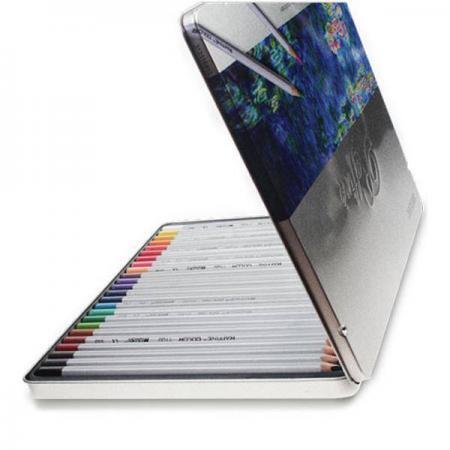 Creioane 24 culori in cutie de metal Marco Raffine 7100 24TN