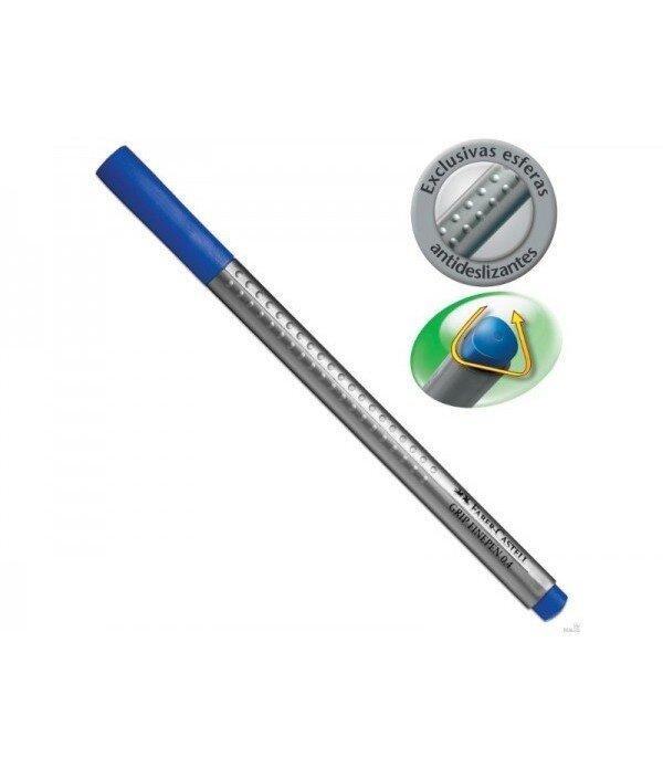 Liner 0.4 mm albastru Grip Faber Castell