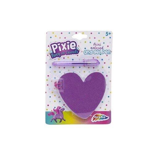 Mini notepad forma inima Pixie Pony and Friends cu