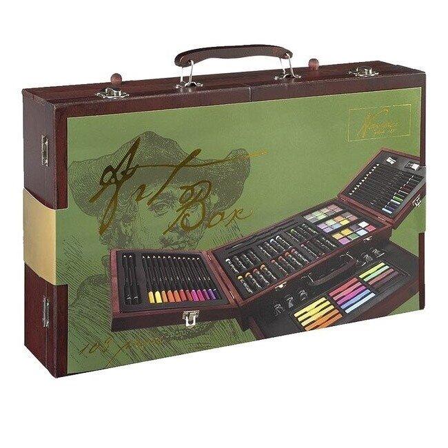 Set creativ desen multifunctional in cutie de lemn Nassau Lux 103 piese 3