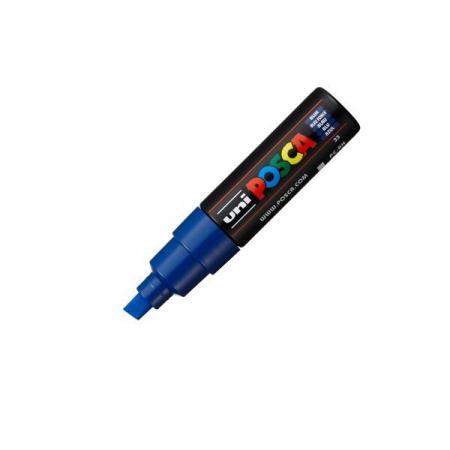 Pocket marker Posca permanent 8.00 mm varf tesit albastru 2