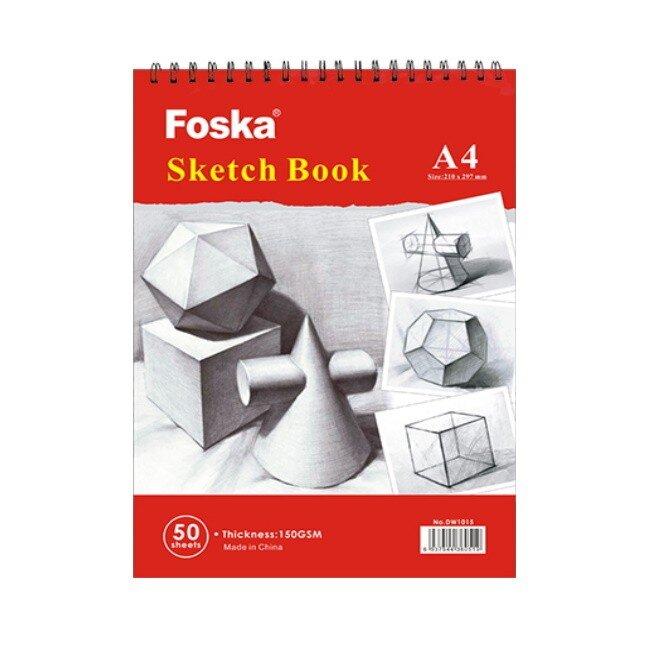 Bloc desen cu spira A4 Foska 150 gr 50 file 33