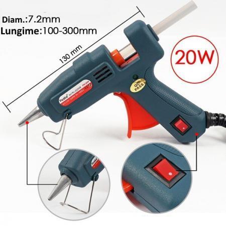 Pistol silicon cu baton 20 W lipire la cald Foska 1