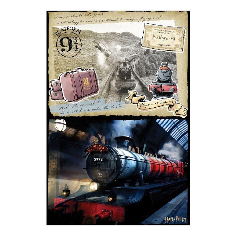 Puzzle de zgarieturi Hogwarts Express 2 1
