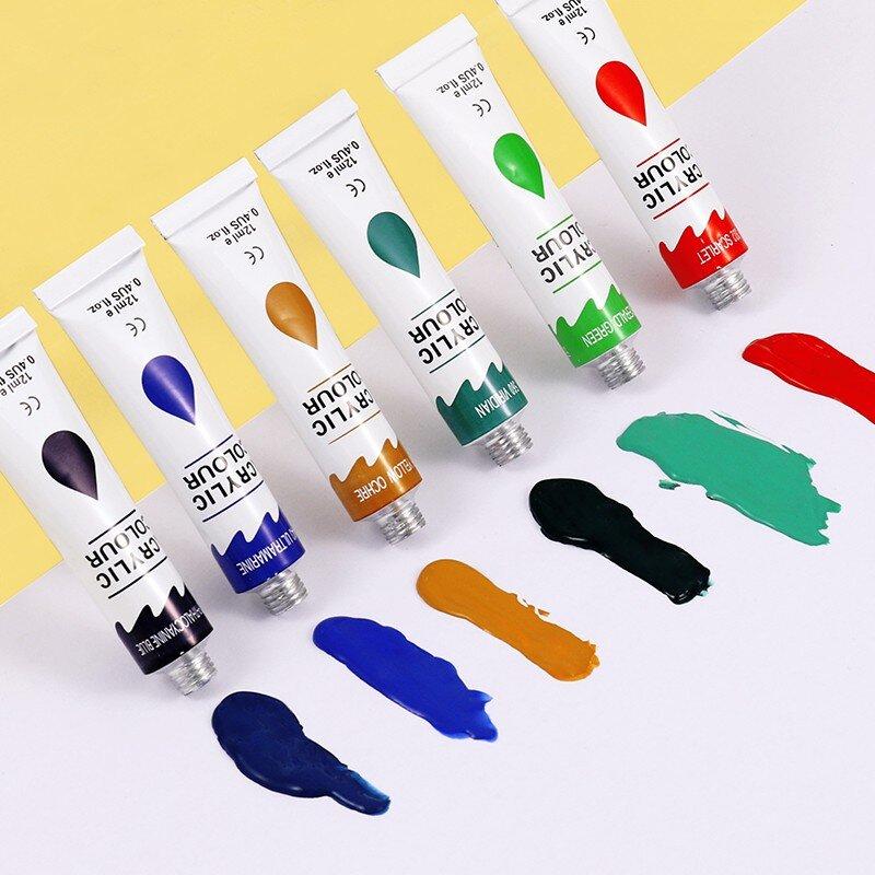 Set acuarele acrilice 12 culori Foska 4
