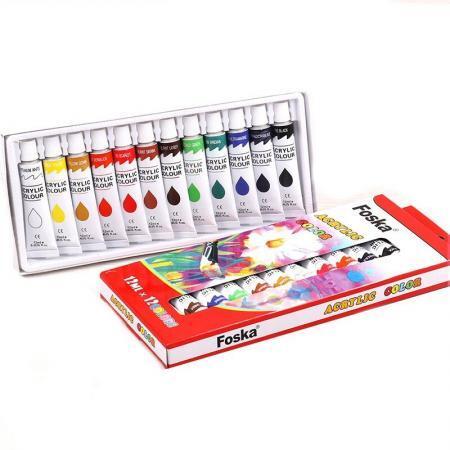 Set acuarele acrilice 12 culori Foska