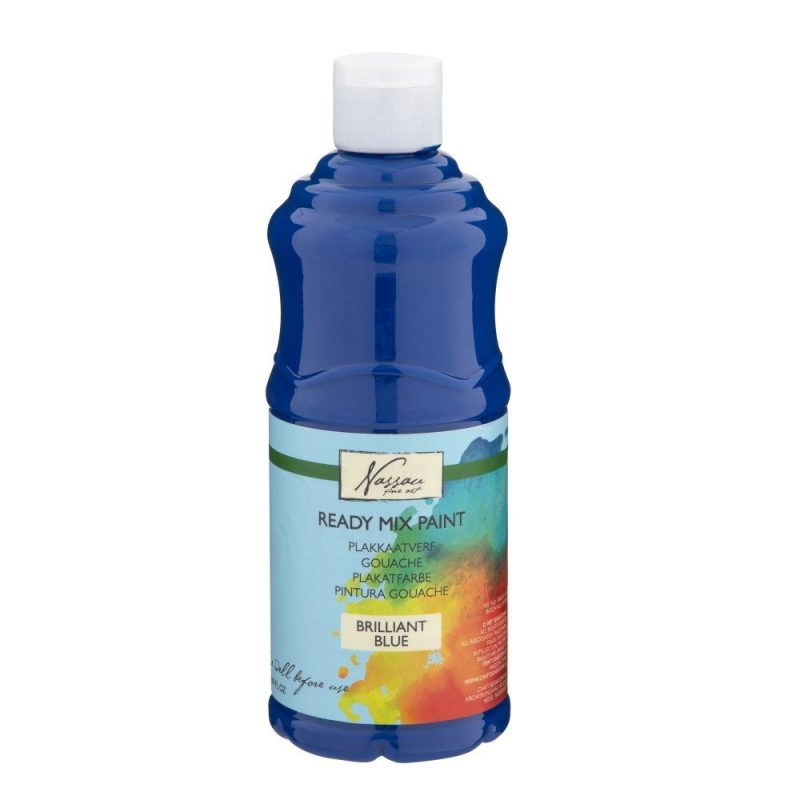 Culori tempera gouache Nassau Fine Art 500 ml albastru