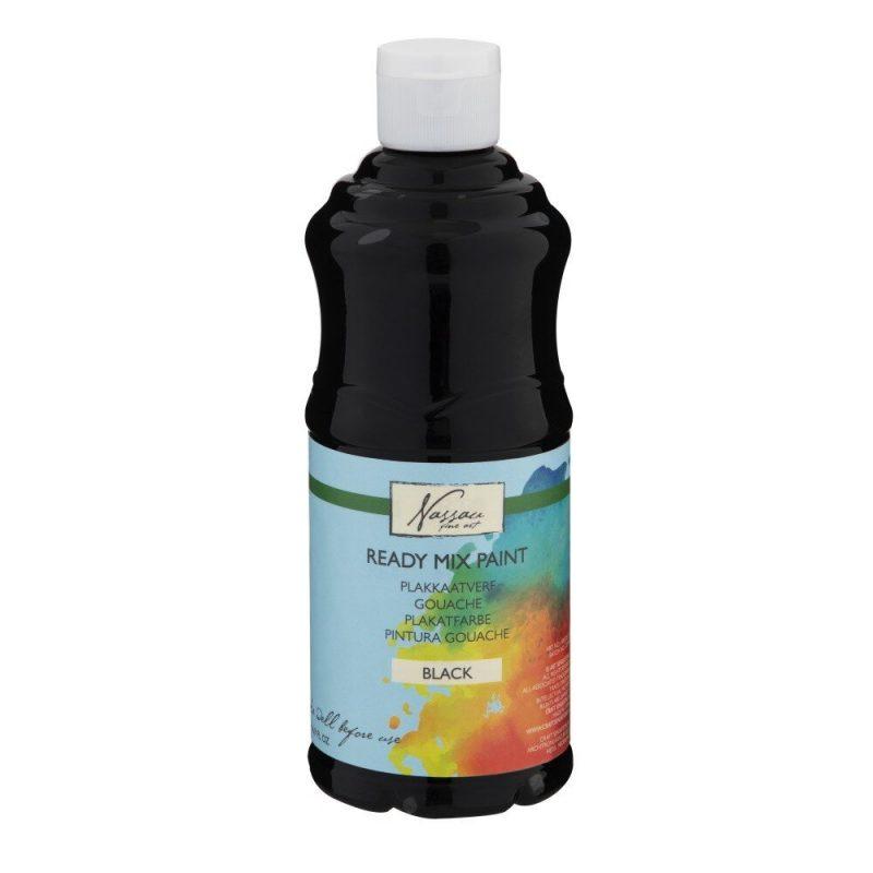 Culori tempera gouache Nassau Finer Art 500 ml negru