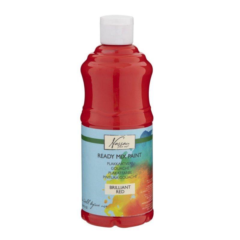 Culori tempera gouache Nassau Finer Art 500 ml rosu