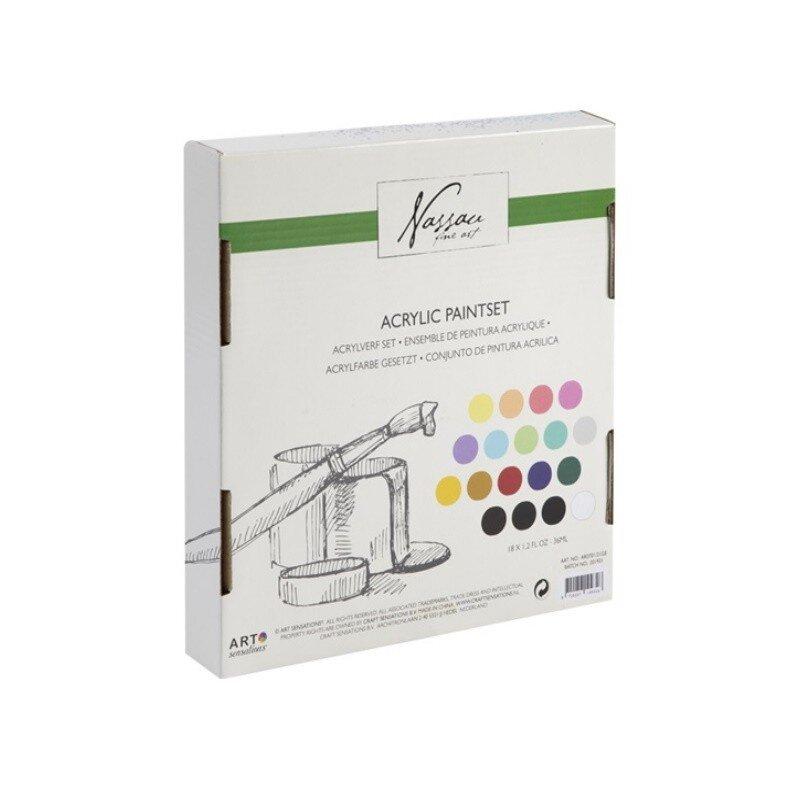 Set culori acrilice mix Nassau Fine Art 18 culorix36ml 2
