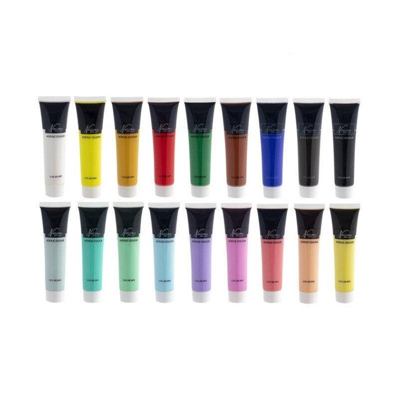 Set culori acrilice mix Nassau Fine Art 18 culorix36ml 3
