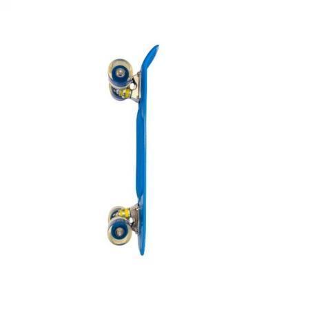 Penny board albastru model Minimal cu roti led albastru transparent 55 cm 4
