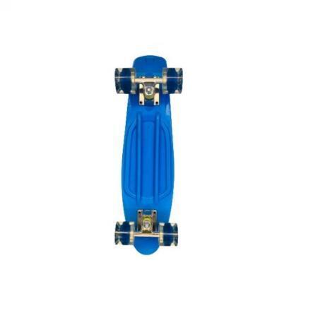 Penny board albastru model Minimal cu roti led albastru transparent 55 cm 5