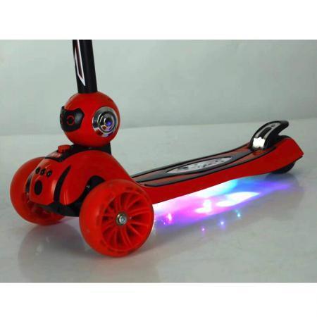 Trotineta copii pliabila Ox Robo rosie cu lumini 9